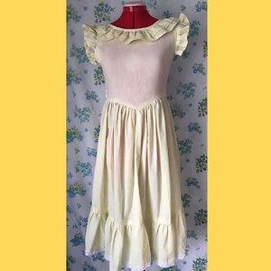 Vintage Yellow Prairie Style Dress